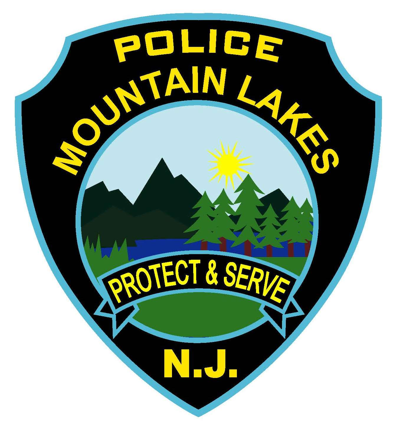 Mountain Lakes Police Patch Size