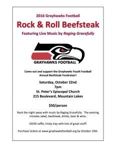 2016 Rock & Roll Grayhawks Football Beefsteak @ St. Peter's Episcopal Church | Mountain Lakes | New Jersey | United States