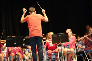 Joao Goncalves leads the Wildwood and Briarcliff Band