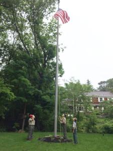 Lowering flag