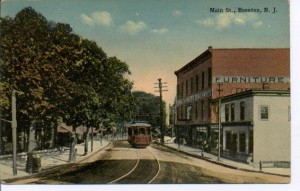 Trolley on upper Main St. in Boonton