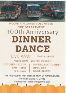 Mountain Lakes Fire Department 100th Anniversary Dinner Dance @ Zeris Inn | Mountain Lakes | New Jersey | United States