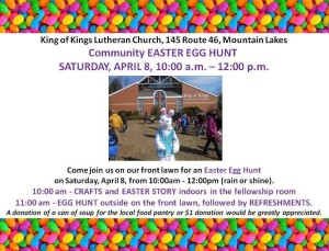 Easter Egg Hunt - King of Kings Lutheran Church @ KING OF KINGS LUTHERAN CHURCH | Mountain Lakes | New Jersey | United States